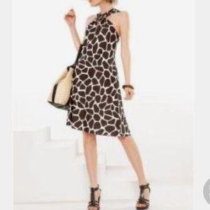 Banana Republic giraffe print dress